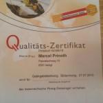 Zertifikat Honig
